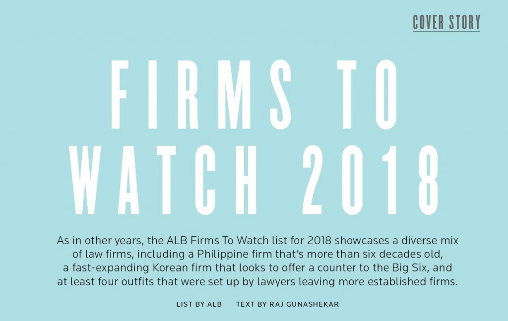 Nasoetion & Atyanto at the Asian Legal Business 2018: Firms To Watch 2018