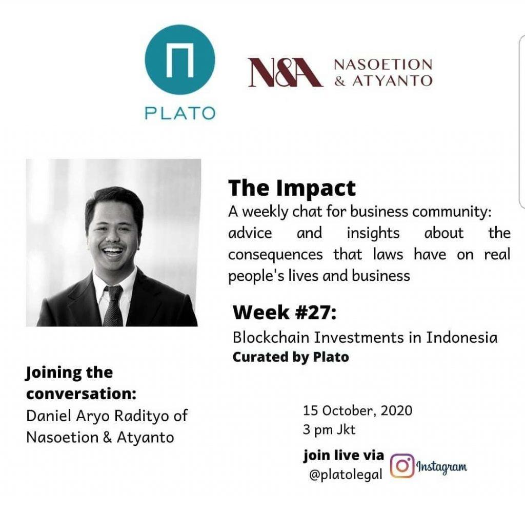 Daniel Radityo broadcast with Plato Legal Blockchain Investments in Indonesia